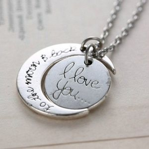 Jewelry - I Love You to the Moon and Back Necklace Silver